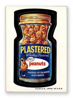 Wacky Packages Topps 2nd Series: Plastered Peanuts #wackypacks #illustration