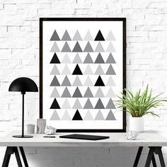 Triangle abstract art #iloveprintable