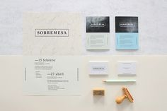 Sobremesa on Behance #corporativo #branding #identidad #workshop #sobremesa #etxeberria #academy #naranjo #architecture #textures #stationery #logo #madrid #miguel #naranjoetxeberria #diego #naranjo—etxeberria #spain #direction #art #taller