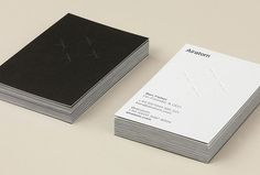 Airatom by Oak #business cards #brand #print