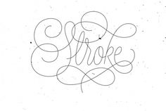 Lettering collection 2014 #lettering #vector #type #stroke #logo