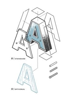 The Exploded Alphabet — the Design Office of Matt Stevens Direction + Design + Illustration #alphabet #letters