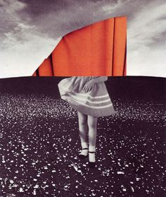 VEIL - BETH HOECKEL #collage #orange #bw