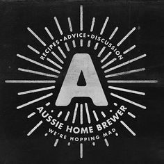 Aussie Home Brewer #logo #rays #ben suarez #home brewing
