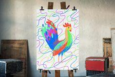 Antti Kalevi - Aapiskukko #rooster #poster