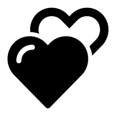 See more icon inspiration related to hearts, lovers, heart outline, heart shape, shapes, loving and heart silhouette on Flaticon.