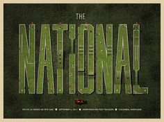 DKNG » Store » The National #type #put #poster