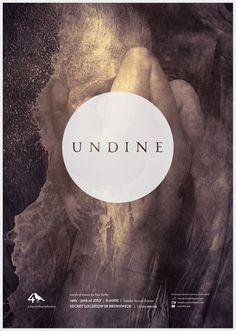 Undine - Stephanie Butterworth #branding #theatre #photomontage #collage #monochromatic