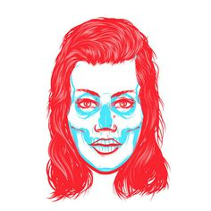 Ilustracixc3xb3n vectorial: Musketon #illustration #face #skull