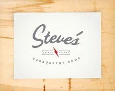 STEVE'S CARBURETOR LOGO - Les Barbire #carburetor #script #logos #identity #logo