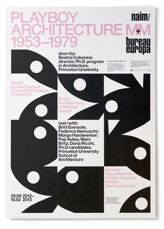 Playboy poster by Experimental Jetset #poster #experimental jetset #playboy