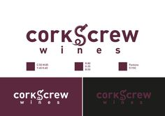 Corkscrew Logo/CorporateID #wine #grape #corporate #screw #logo