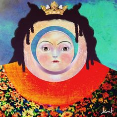 Kent Yoshimura | Home #bright #painting #art #surreal #queen