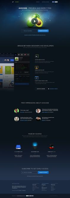 Avocode - Preview and inspect PSD by David Stefanides #page #site #sign #design #product #up #web #landing