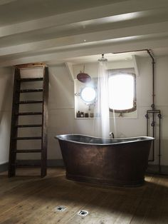 Industrial Metal Tub : The Devious Moose #tub #shower #bathroom #industrial #rain #boat