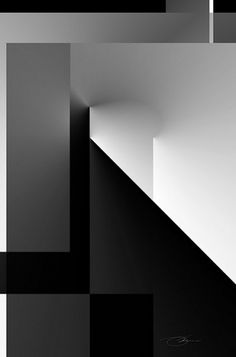Black and White 1 #art #minimal #architecture #white #black and white #black