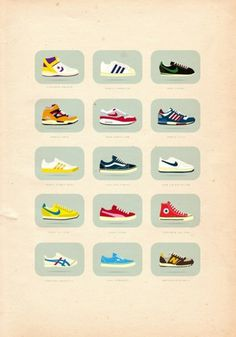 40+ Vintage Posters to Inspire Your Next Designs Color Palette #shoes