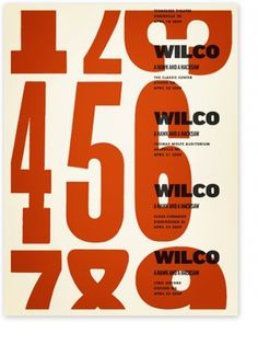 Posters : Alvin Diec #gig #wilco #poster