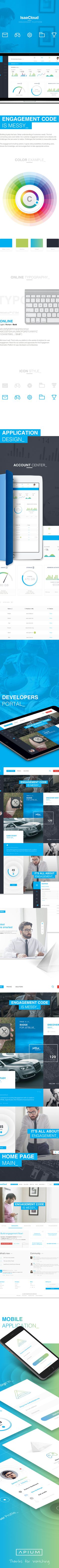 IsaaCloud - Engagement Platform on Behance #aplication