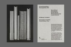 Kunstmonografien 2012 : B & R Grafikdesign #print #flyer #books #out #grid #hand