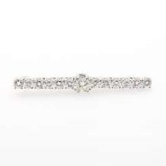 Bar brooch with numerous diamonds,