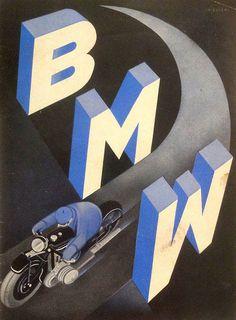 Vintage BMW Brochure from 1930 #vintage #white #blue #light #black #bmw #cars