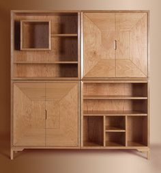 Living room cabinet on Behance #wood #design #geometry #cabinet