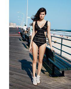 """Rock Away"" : Isabeli Fontana : Bergdorf Goodman Magazine's Resort Swim Collections : Angelo Pennetta #goodman #pennetta #bergdorf #angelo #isabeli #fontana"