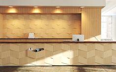 Prokk - d-4 #modular #office #counter #wood #wall #entrance