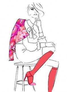 Google Image Result for http://3.bp.blogspot.com/-0ubFSkGZq-w/Tnr5YOjuTsI/AAAAAAAAJ0I/44nz0TRCK3s/s1600/vintageresellers.jpg #hess #paint #illustration #kerrie #female