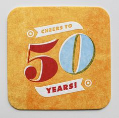 50th_Party_10 #vintage #branding #printing #coaster