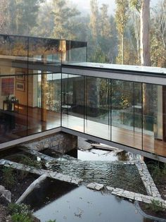 One Day... - Tapiture #reflecting #site #courtyard #glass #pool #exterior