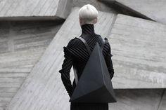 Leather Accessories by Konstantin Kofta #futuristic #black #leather #bag #facet