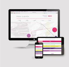 Maru Zubiría on Behance #branding #pink #colors #bags #purple #fashion #logo #wordmark #green