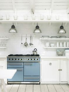 Kitchen Blue Oven #home