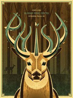DKNG Studios » Posters #deer #phish #poster #dkng