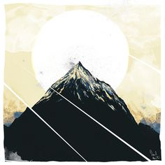 """berg #sun #mountain #height #illustration #painting #slices #altitude"