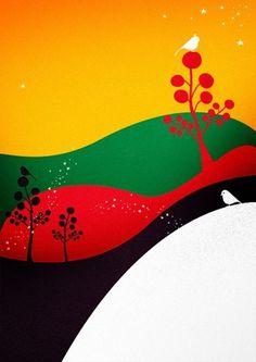 Birdlife Italy par Cristian Grossi   gehirn #pop #illustrator #bird #advertising #illustration #grossi #cristian