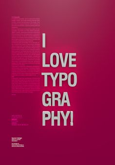 I love typography on Behance #artwork #3d #poster #typography