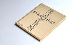 Byzantium by Grafica #cover #editorial #book #typography