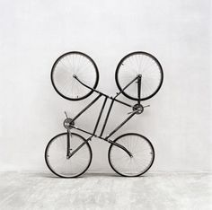 Junk of the heart #installation #joined #rides #bicycles #art #twins