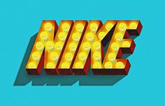 TheeBlog JeffRogers #type #nike #lights #logo