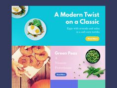 food magazine layout with fresh and vibrant colors