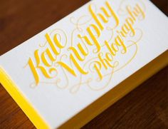 Kate Murphy | Jessica Hische #embossing #hische #business #card #jessica