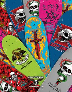deviantgesturecatalog: 2/28/13 new bones brigade reissues #powell #skateboards
