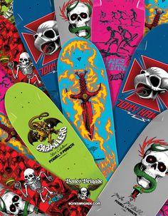 deviantgesturecatalog: 2/28/13 new bones brigade reissues #powell #skateboards