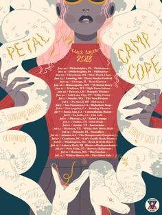 Petal & Camp Cope 2018 USA Tour Poster