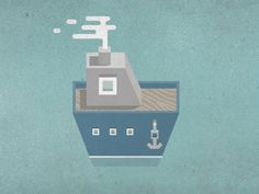 Dribbble - Boat by Vic Bell #illustration #vector #boat #textures