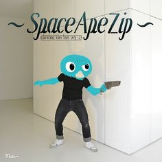 SpaceApeZip #illustration