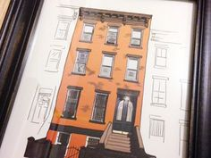 Brownstone print #illustration #timothy #mcauliffe